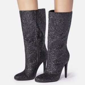 Shayleigh Black Glitter Boot